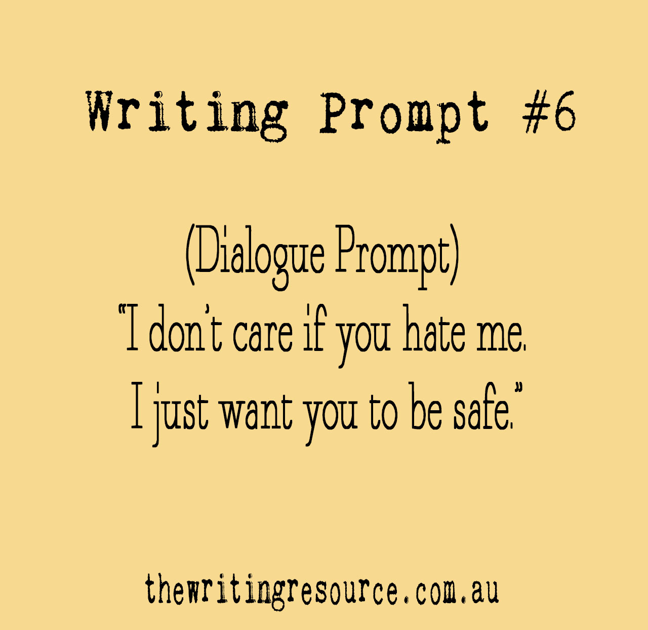 Writing Prompt #6